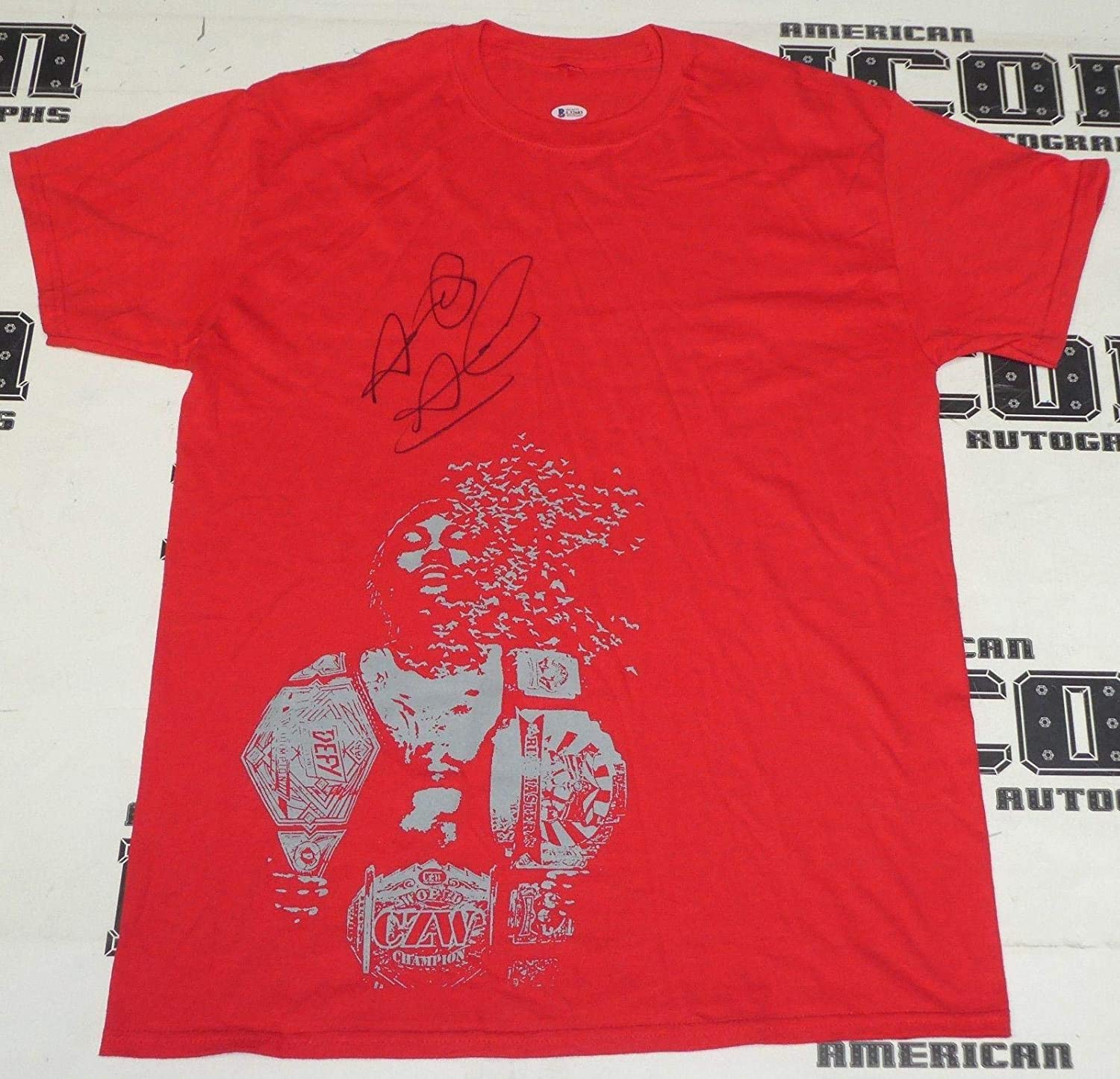 Shane Strickland Signed Shirt BAS Beckett COA Lucha Underground WWE Autograph 83 - Autographed Wrestling Miscellaneous Items