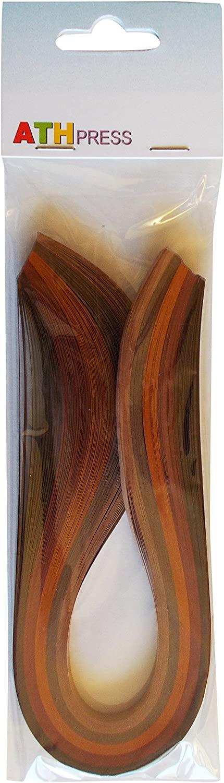 Quilling Strips Qulling Strips Brown Colour 6mm/50cm, 30 x 6 x 1 cm
