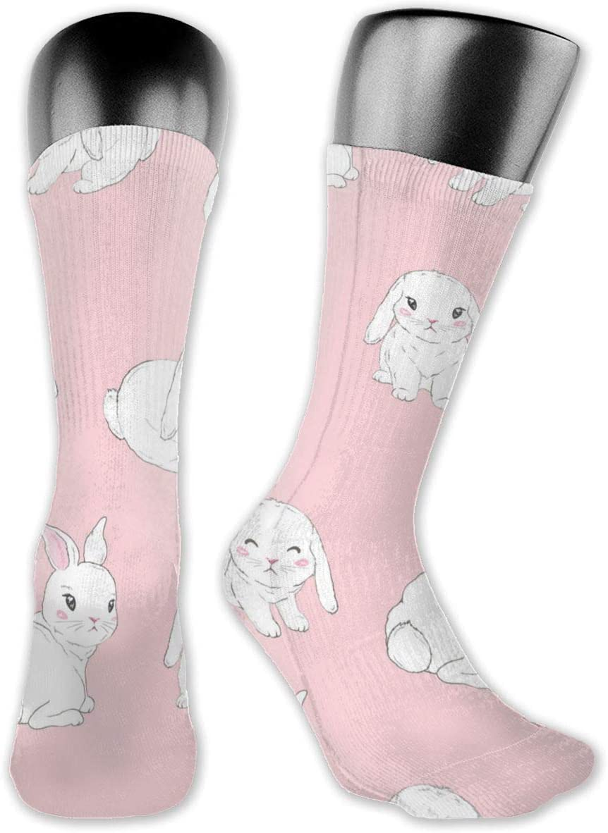 avbvoxy Knee High Socks for Men Women Cartoon Bunnies for Kids Sports Soccer Socks 40cm