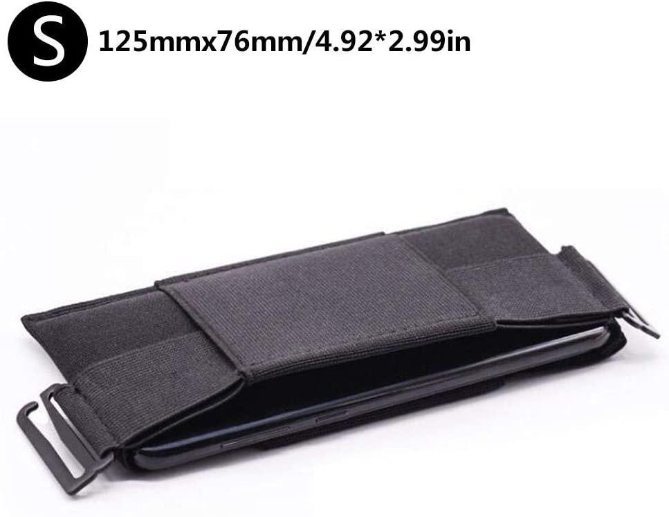 Invisible Wallet for Men Women Money Belt Wallet Waist Bag Elastic Mobile Phone Bag Card Bag Passport Holder Black Minimalist Mini Coin Purse