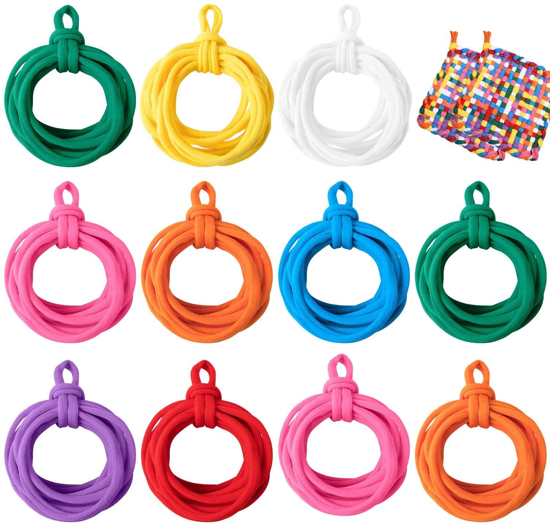 Eeoyu 192 Pieces Loom Potholder Loops Weaving Loom Loops with Multiple Colors for Kids DIY Crafts Supplies