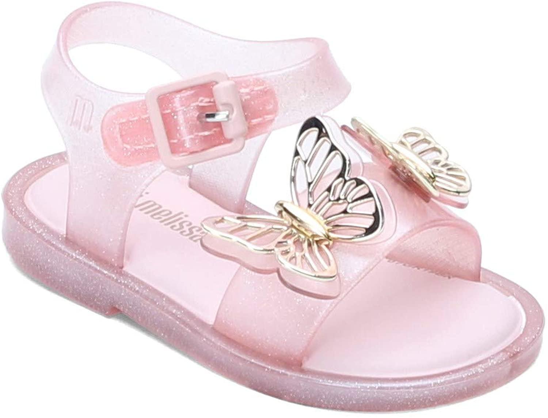 mini melissa Girl's Mar Sandal Fly BB (Toddler/Little Kid) Baby Pink 7 Toddler M