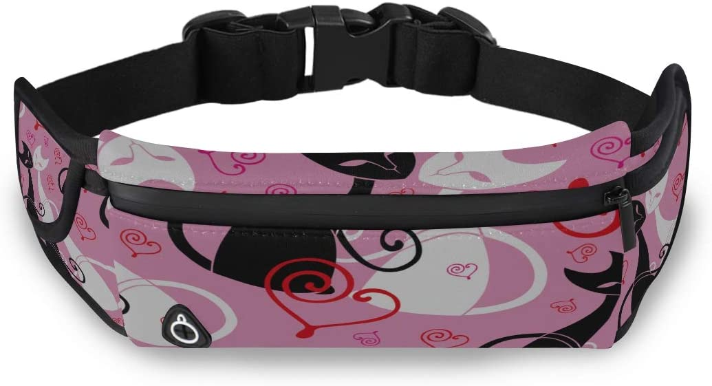 Animal Cat Love Heart Cheap Fashion Bags Small Fanny Pack Womens Bags Fashion With Adjustable Strap For Workout Traveling Running
