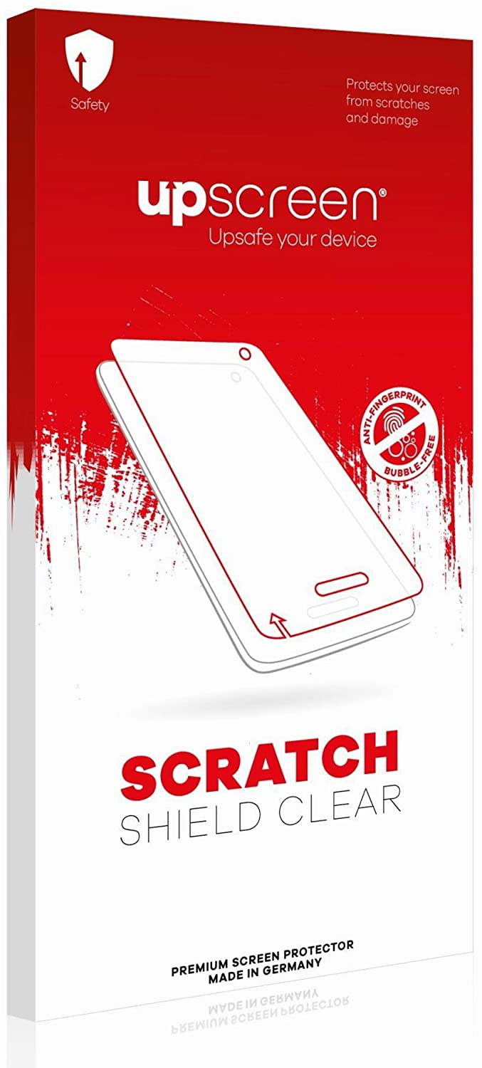 upscreen Scratch Shield Clear Screen Protector for Pioneer AVIC-F60DAB, Strong Scratch Protection, High Transparency, Multitouch Optimized