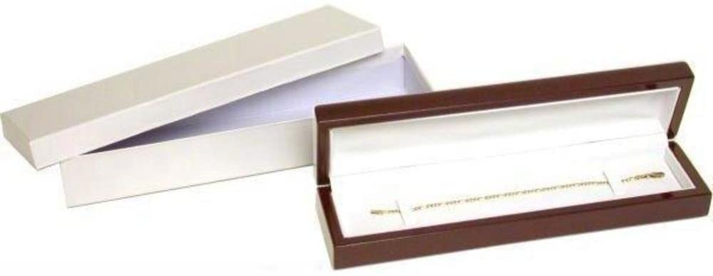 Bracelet & Watch Gift Box Rosewood Stained 8 1/2