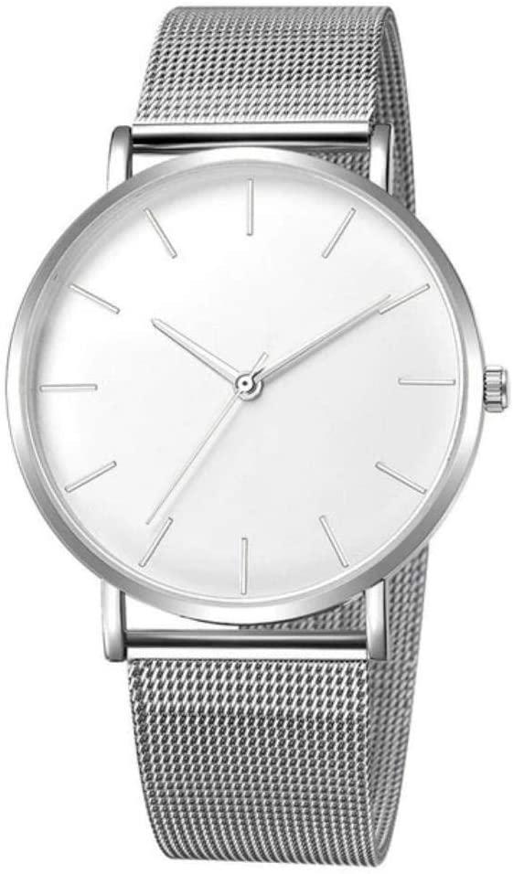 Fashion Unisex Watches Luxury Military Sport Men Wrist Watch (Silver/United States)