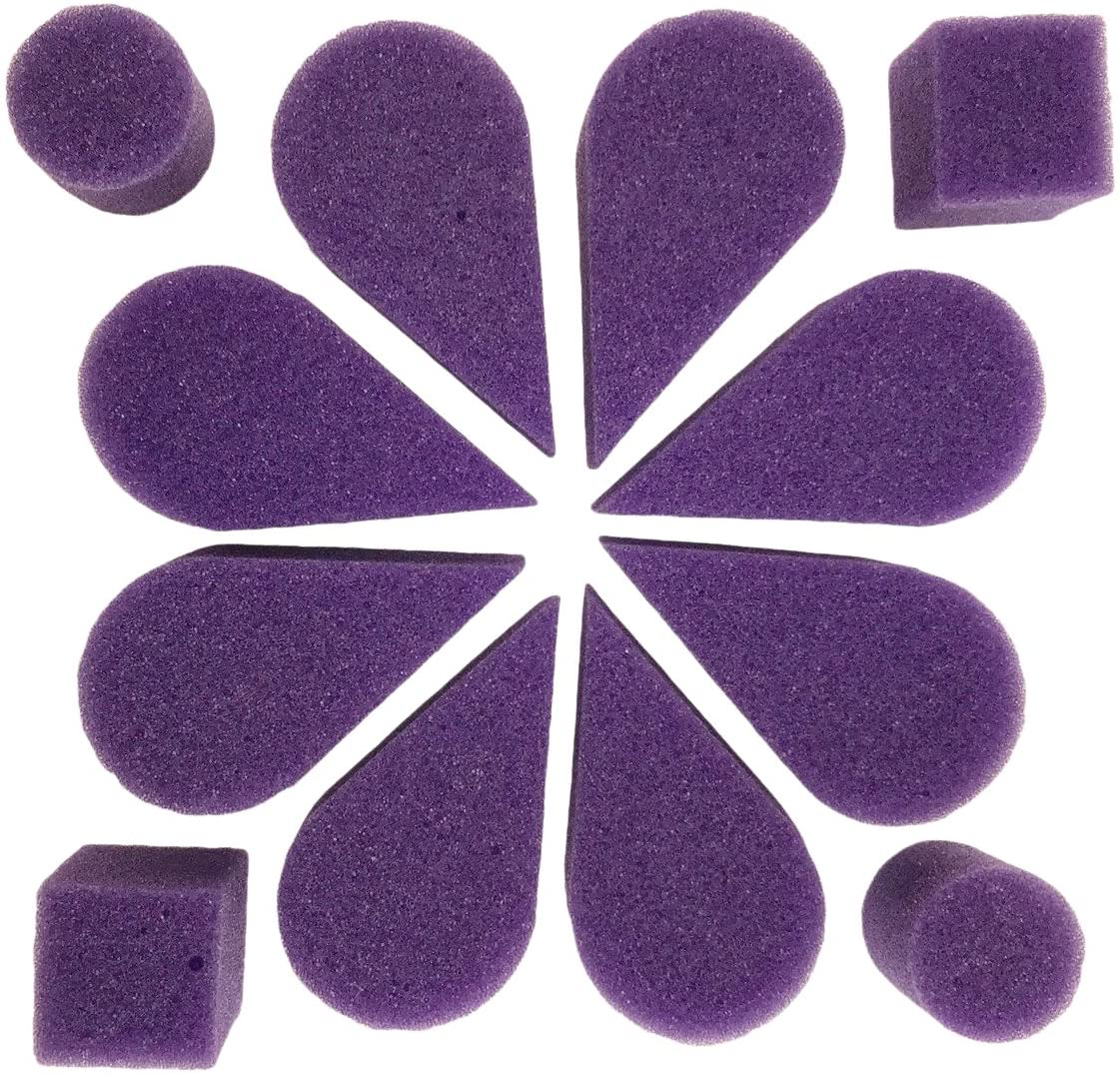Ruby Red Paint, Inc. SPOPETPU Face Paint with Petal Sponge, 8 Pack, Purple, 2 Piece