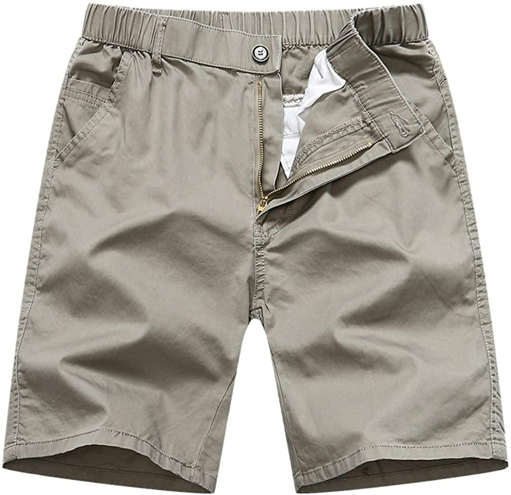Xiami Leyuan@ Mes Solid Twill Retro Cotton Cargo Shorts