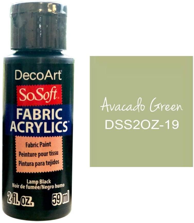 Deco Art SoSoft Fabric Acrylic Paint 2oz-Avocado Green