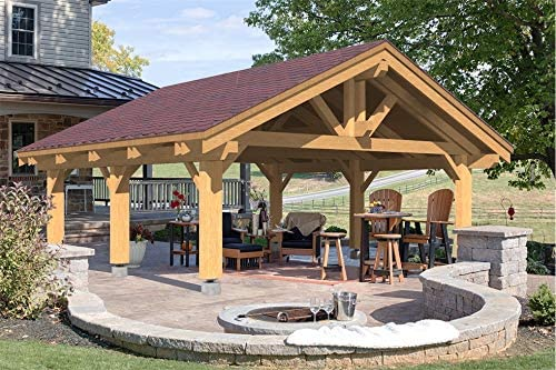 ECOHOUSEMART | Wooden CARPORT for 2 Vehicles & Patio Cover 24 X 24 X 16'6