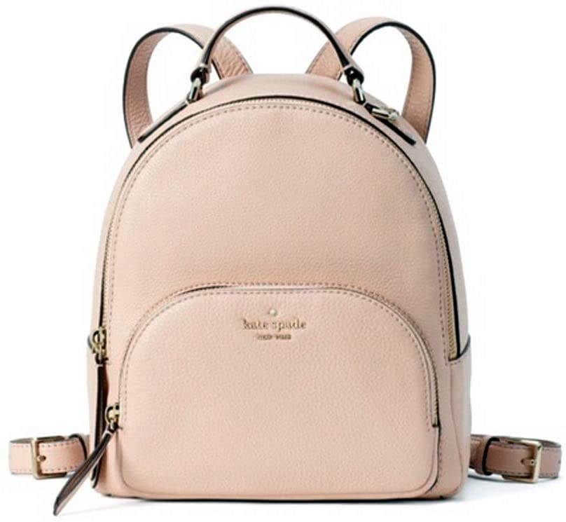 Kate Spade Jackson Medium Leather Backpack Warm Vellum