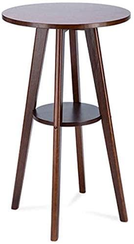 HOMRanger Solid Wood Bar Table, High Table Creative Household Living Room Bar Restaurant Coffee Shop Leisure Table Coffee Table Tea Table (Color : Brown)