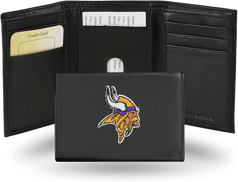 Rico Minnesota Vikings Embroidered Tri Fold Wallet