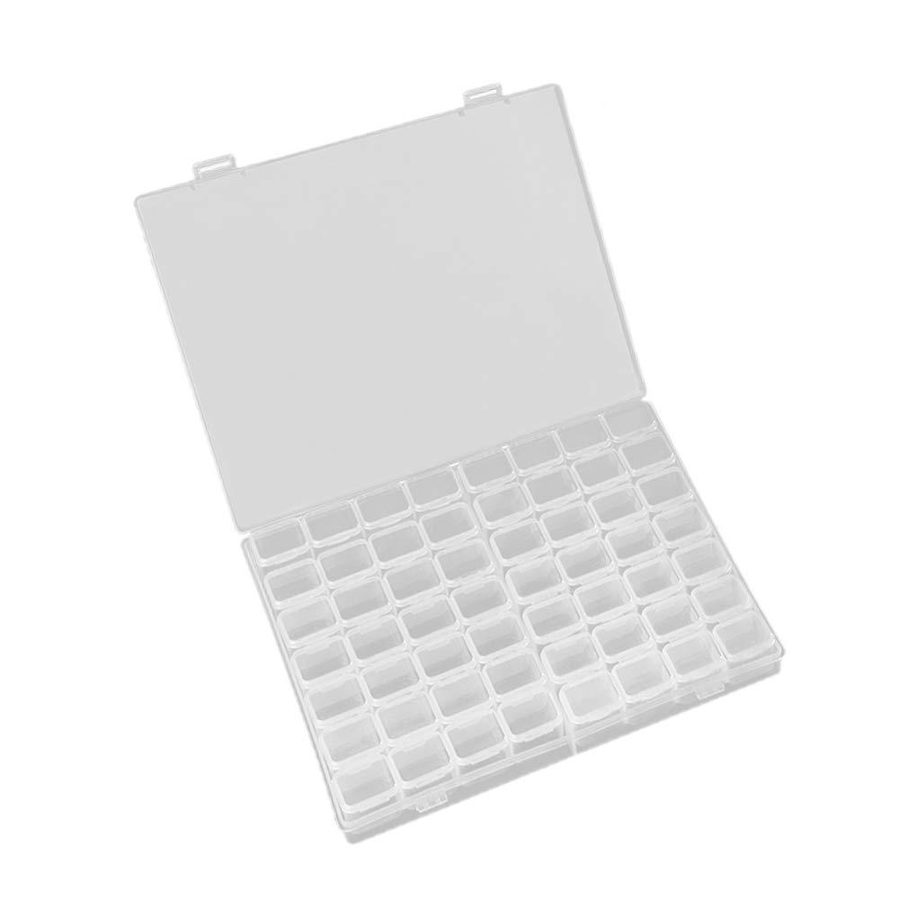 SALOCY Nail Art Diamond Organizer Box,Diamond Painting Organizer Box,Embroidery Box Jewelry Box Organizer,56 Grids