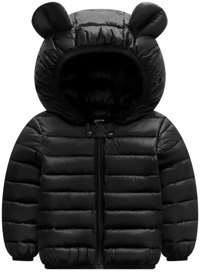 Goddesslili Baby Girl Boy Clothes, Cute Bear Ear Hooded Winter Coats Jacket, 2019 New Fashion Cozy and Warm, Wonderful Gift for Kids 1-4 Yrs