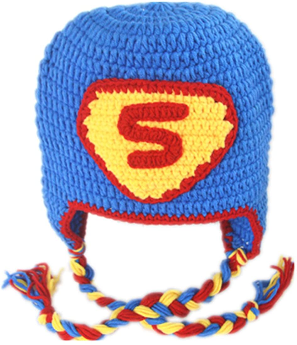 Generic Children Boys Custom Crochet Cartoon Hats with Earflaps
