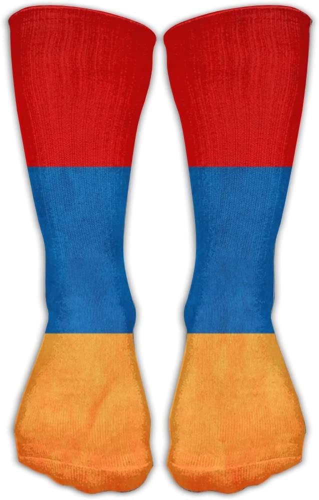 Pin-1 Armenia Grungy Flag Athletic Socks Novelty Running Long Sock Cotton Socks