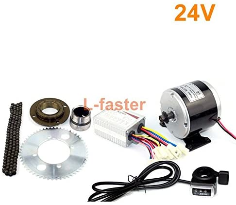 L-faster 24V36V 350W Electric Cart Engine Kit Electric Motocross Bike Replacement Kit Electric Gokart Minibike 25H Chain Drive Engine Kit
