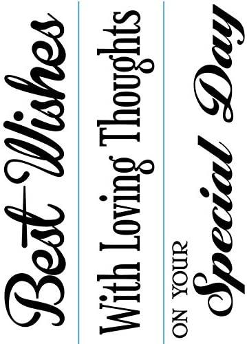 Darice 1218-85 Embossing Folder, Just Because Phrase Border Design, 3-Pack