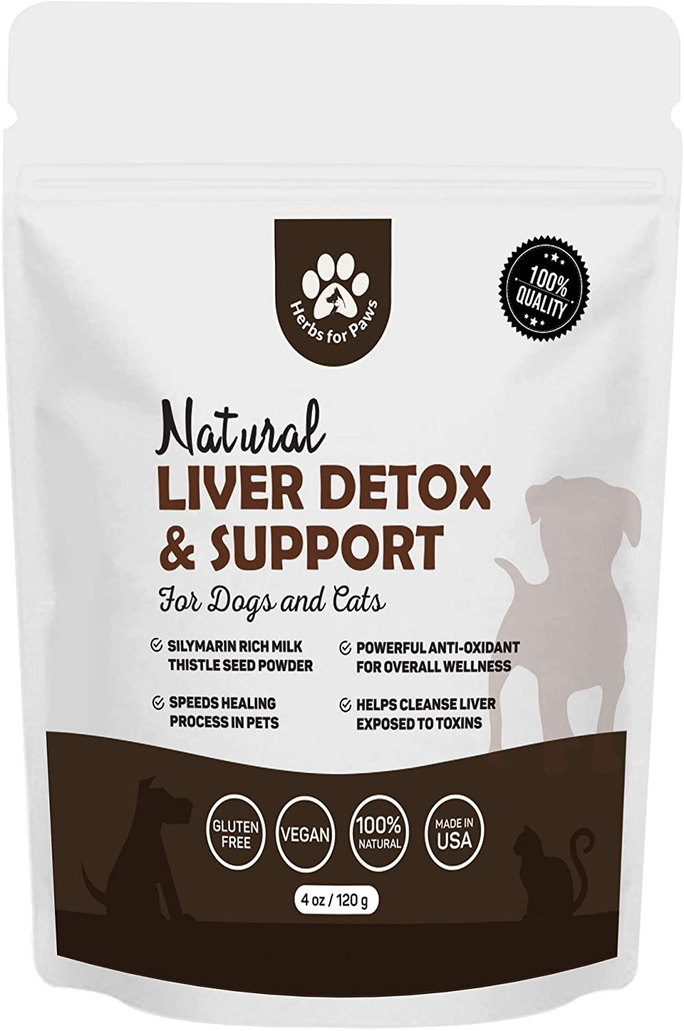 Liver Support for Dogs, Milk Thistle for Dogs and Cats, Supplement Without Capsules, Pills