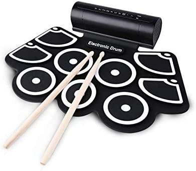 Konix MD760 Educational Kit For Kids MIDI Roll Up Silcone Drum Kits With Speaker