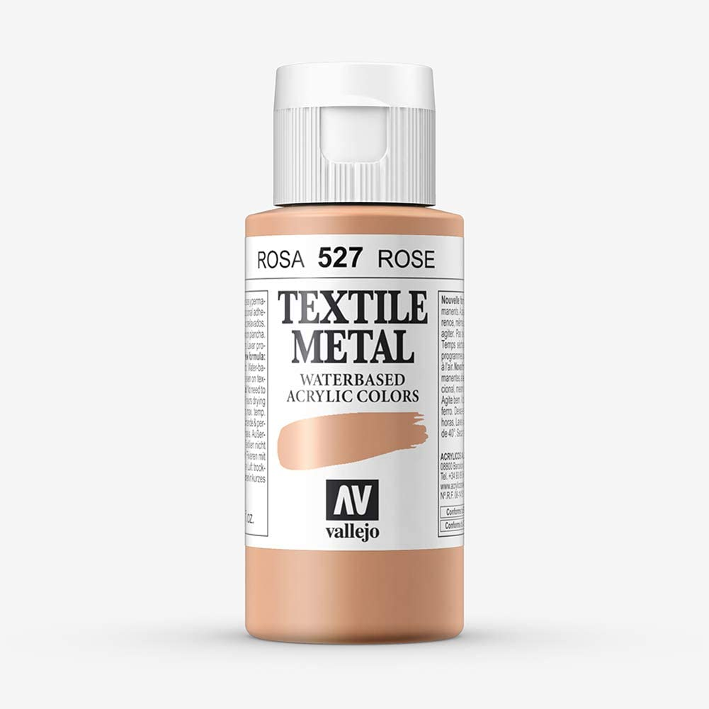 Vallejo : Textile Paint : 60ml : Metallic Rose Pearl