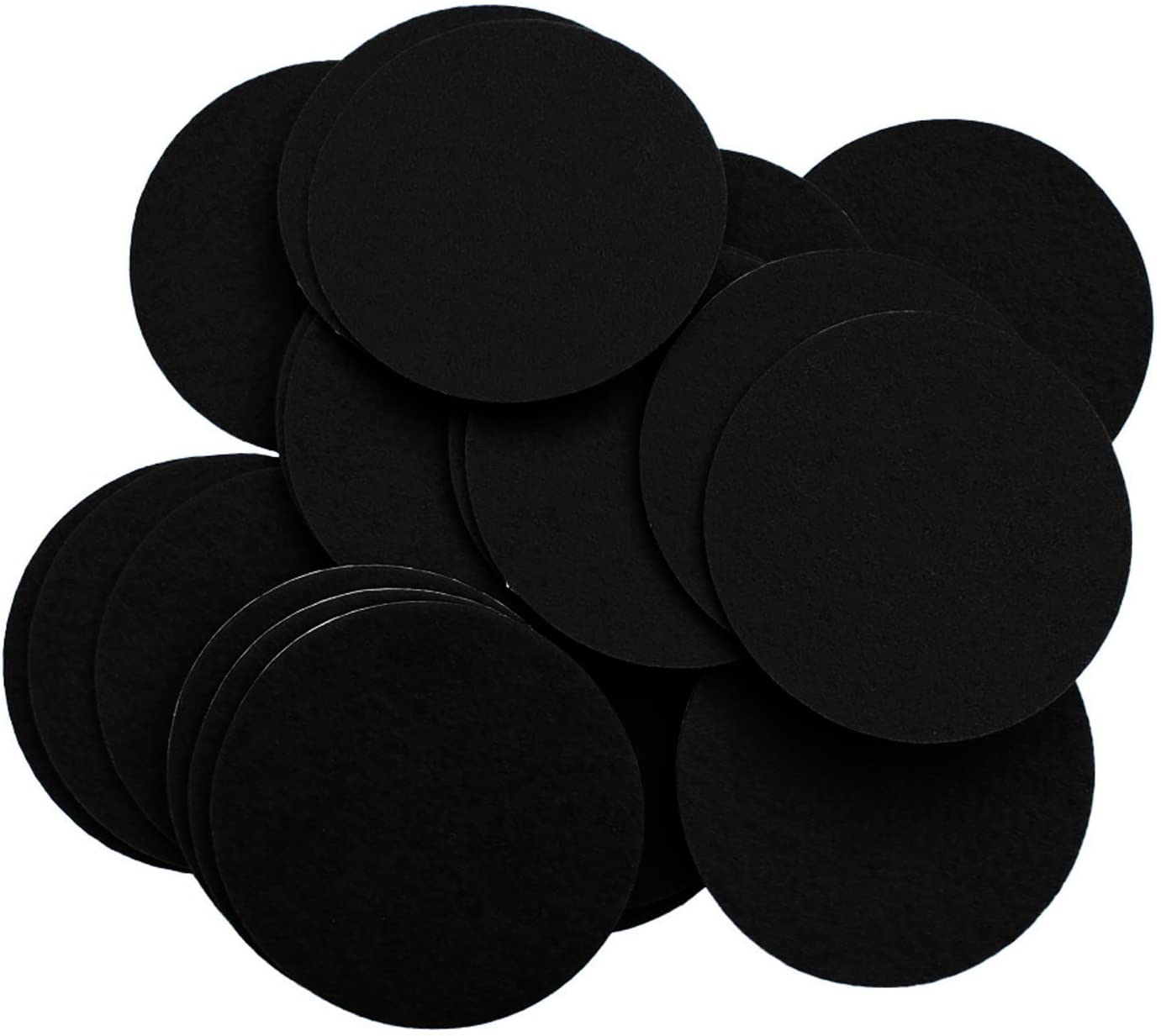 Playfully Ever After 4 Inch Black 15pc Felt Circle Stickers