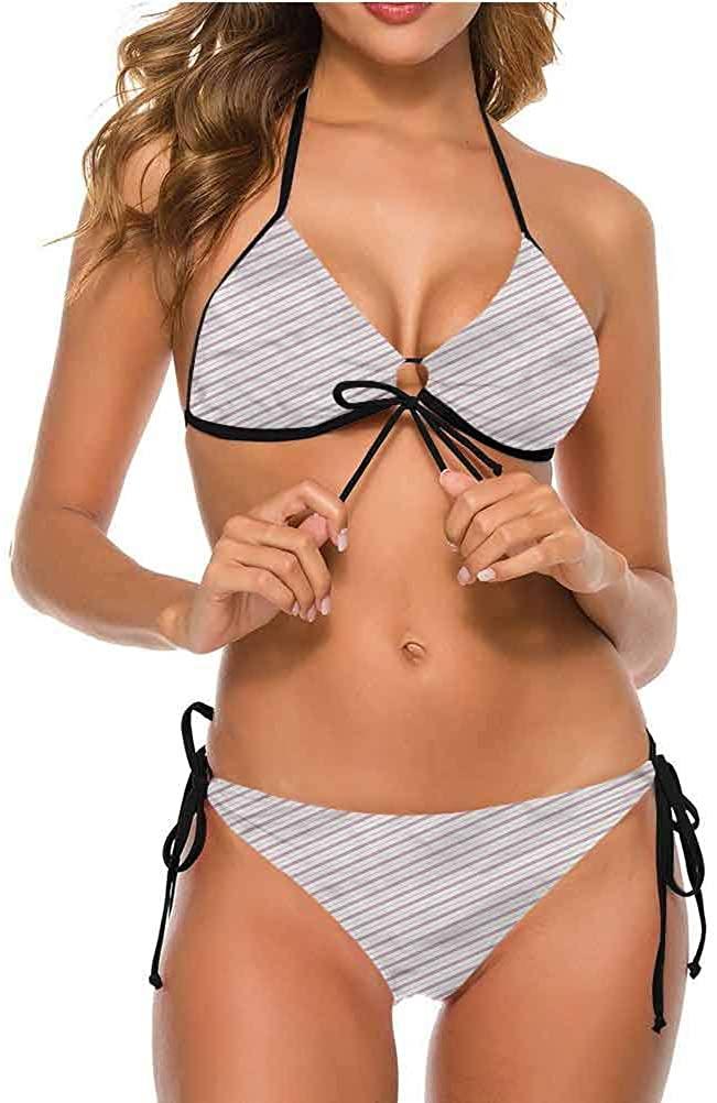 Bikini Set Swimsuits Womens Swimwear Sexy Tie Side Vintage Oval Pattern