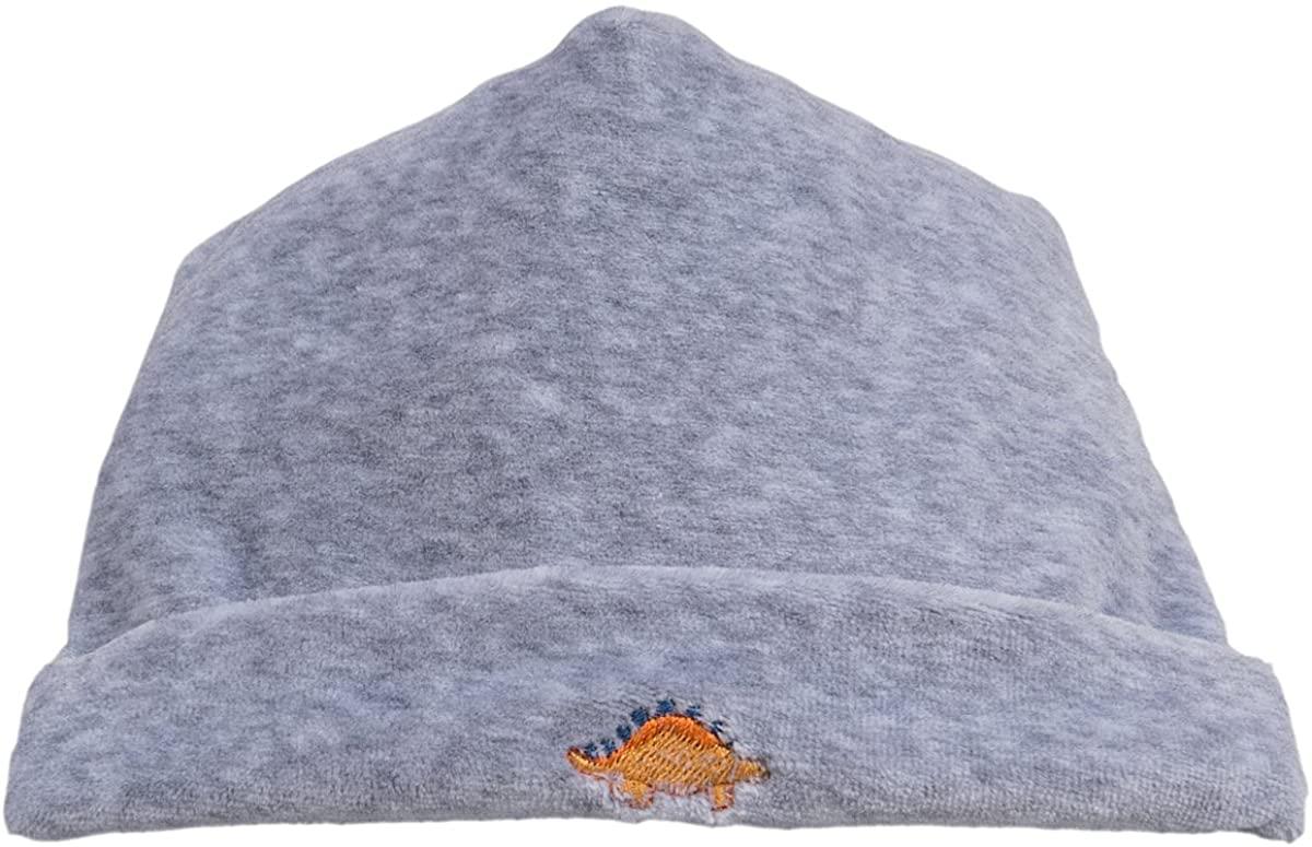 Kissy Kissy Baby Boys' Jurassic Journey Velour Hat - Grey