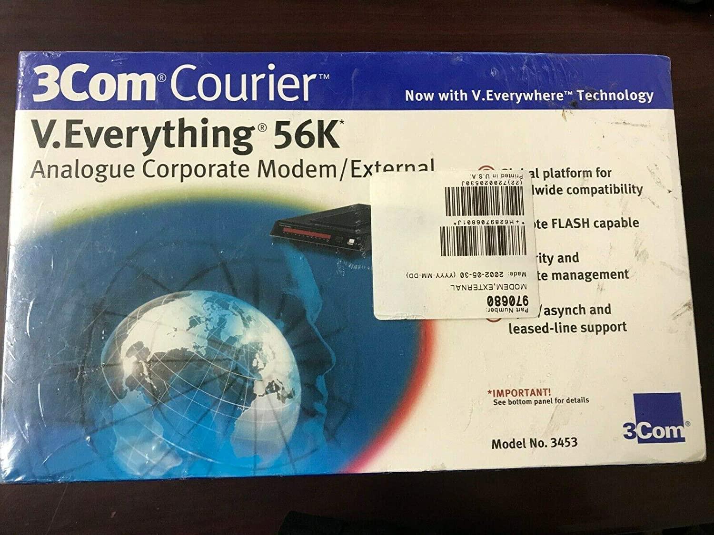 #R3S2 Brand New & Sealed 3COM Courier V.Everything 56K Analog External Modem