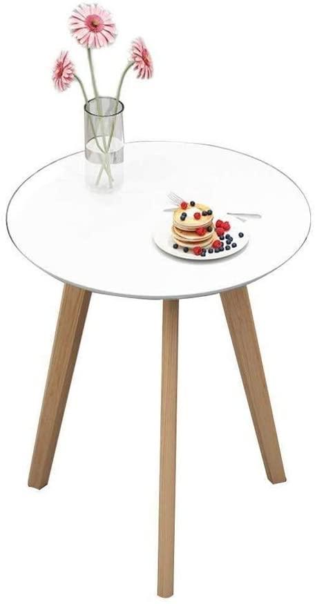 CHENJIU White Solid Wood Small Coffee Table Modern Minimalist Living Room Mini Sofa Coffee Table 4860cm, 6070cm (Size : 4860cm)