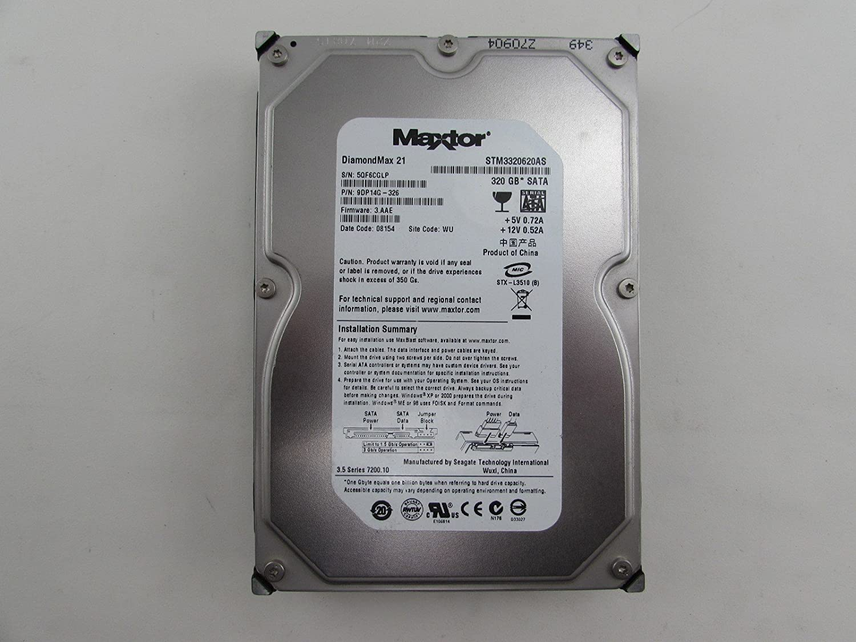 Maxtor STM3320620AS 320GB 7200 RPM 16MB SATA Hard Drive HDD 9DP14G-326 FW: 3.AAE