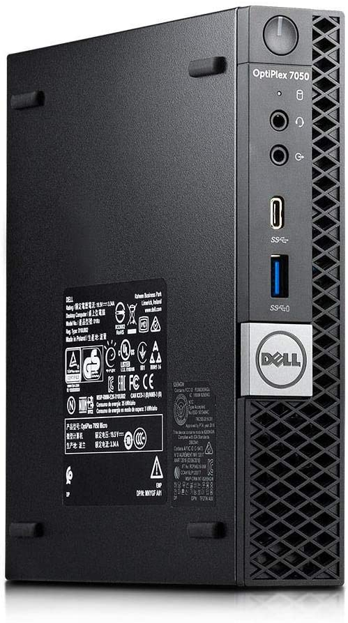 Dell Optiplex 7050 Micro Form Factor Desktop, Intel i5 7500T 2.7Ghz, 16GB DDR4, 1TB Hard Drive, Wi-Fi, HDMI, Windows 10 (Renewed)