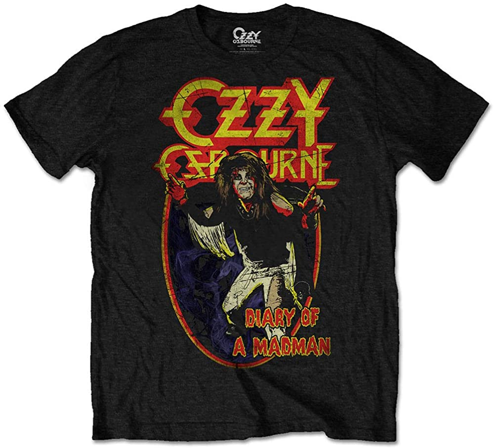 Ozzy Osbourne Men's Diary of A Madman T-Shirt Black
