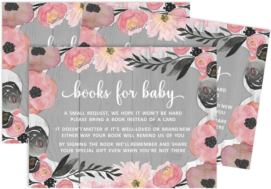Inkdotpot 30Jungle Animals Gender Neutral Baby Shower Book Request Cards Bring A Book Instead of A Card Baby Shower Invitations Inserts Games