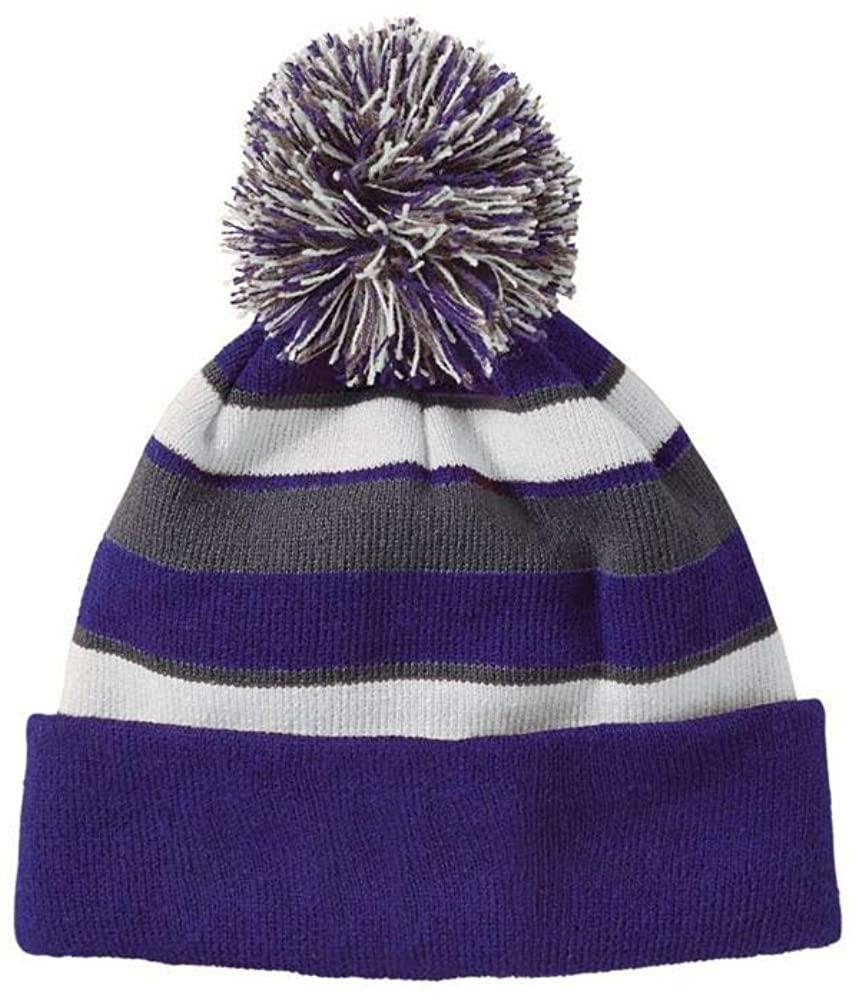 Augusta Sports One-Size Purple/White/Graphite Beanie