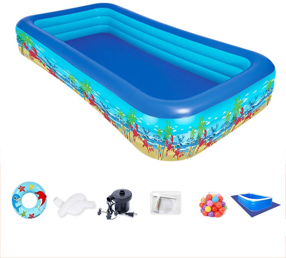 TOPYL Full-Sized Pool for Kids Adult,Family Inflatable Swimming Pool,Above Ground Pool,Backyard,Garden,Outdoor A 51x35x20inch/1-2 People