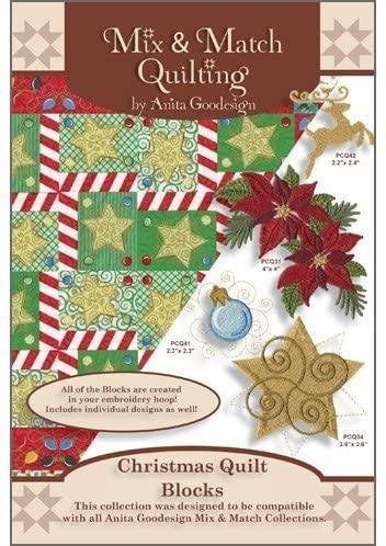 Anita Goodesign Embroidery Cd Christmas Quilt Block