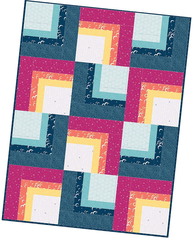 Maywood Studio Moongate Corner Cabin Quilt Pod Kit by Christina Cameli POD-MAS08-MOO