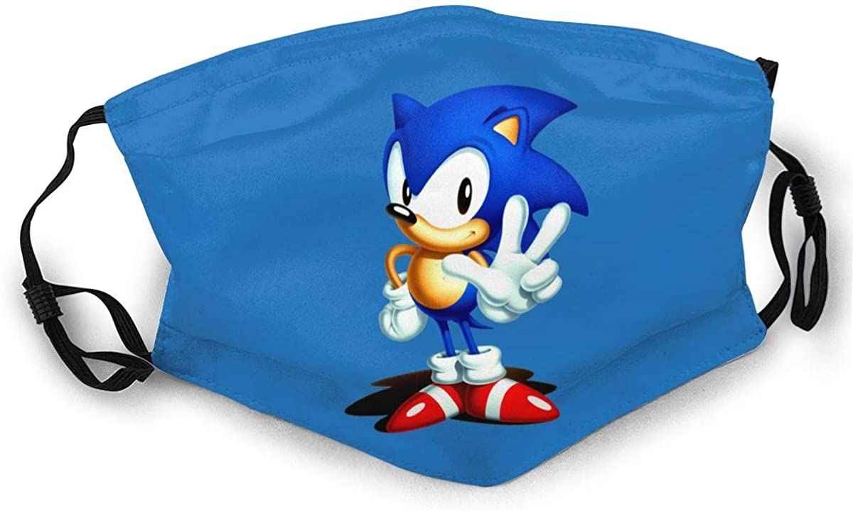 Sonic The Hedgehog Adult Outdoor Sports Windproof Dustproof Face Towel Headscarf Scarf Sunscreen