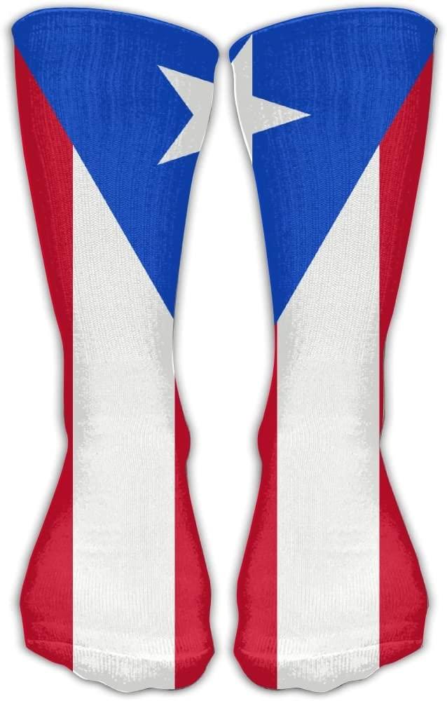 Flag of Puerto Rico Athletic Socks Novelty Running Long Sock Cotton Socks