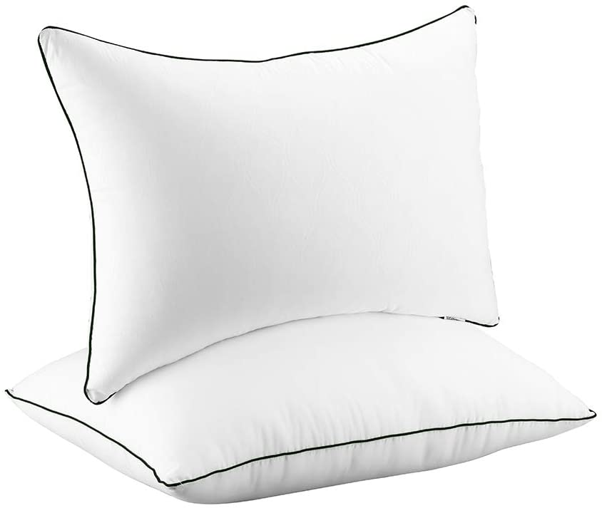 SUGARYDREAM Bed Pillows for Sleeping 2 Pack, Hypoallergenic Sleeping Pillows for Side and Back Sleeper Hotel Pillows Down Alternative Pillow with Super Soft Plush Fiber Fill,Queen Size,20 x 30