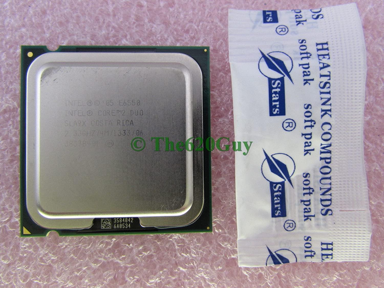 Intel Core 2 Duo E6550 2.33GHz 4M/1333 SLA9X Socket LGA 775 CPU Processor +Paste