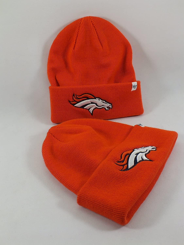47 Brand Denver Broncos Raised Cuff Beanie - Orange