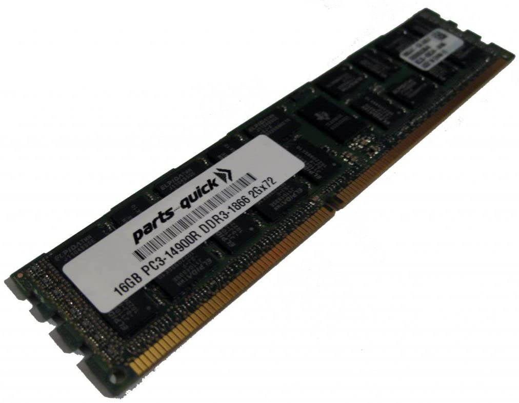 16GB Memory Upgrade for HP ProLiant DL380p Gen8 (G8) DDR3 PC3-14900 1866 MHz ECC Registered DIMM RAM (PARTS-QUICK Brand)