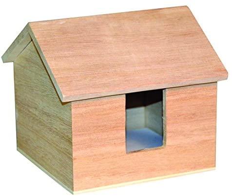 Artemio 14001560 Wooden Paper Block Holder House-13cmx 12cmx 10.5Cm