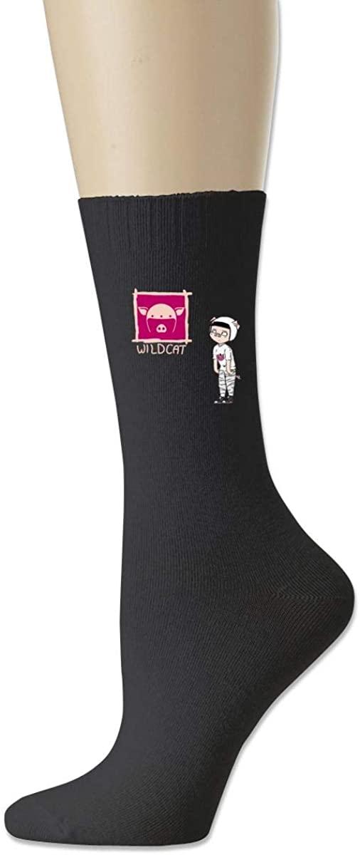 I Am Wild-Cat Cotton Socks Moisture Control Crew Socks For Men Women