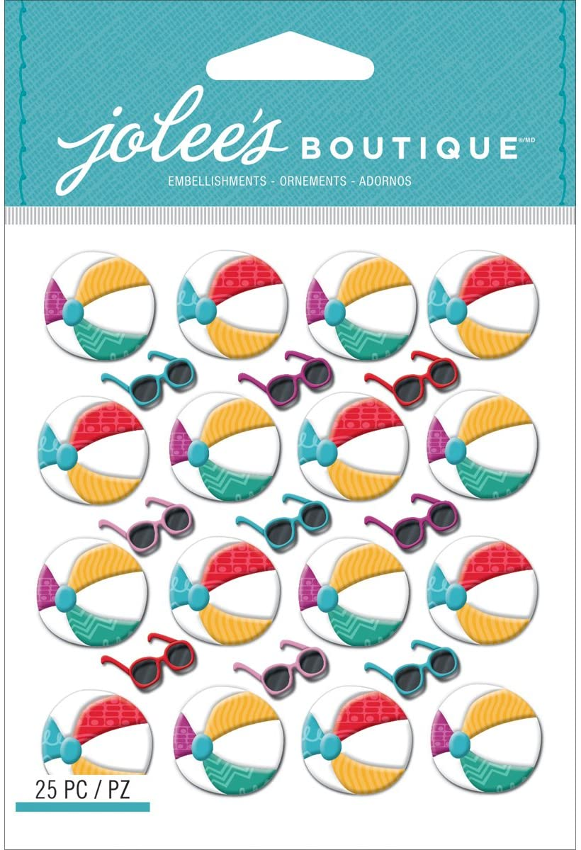 Jolee's Boutique Dimensional Stickers, Beach Ball Repeats