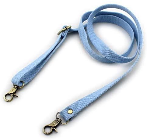 Wento 1pcs 31-57 Webbing Shoulder Cross Sky Blue Bag Strap,Band Width 0.78,Replacement Cross Body Purse Straps,Sky Blue Canvas Purses Straps WTD33 (Sky Blue)