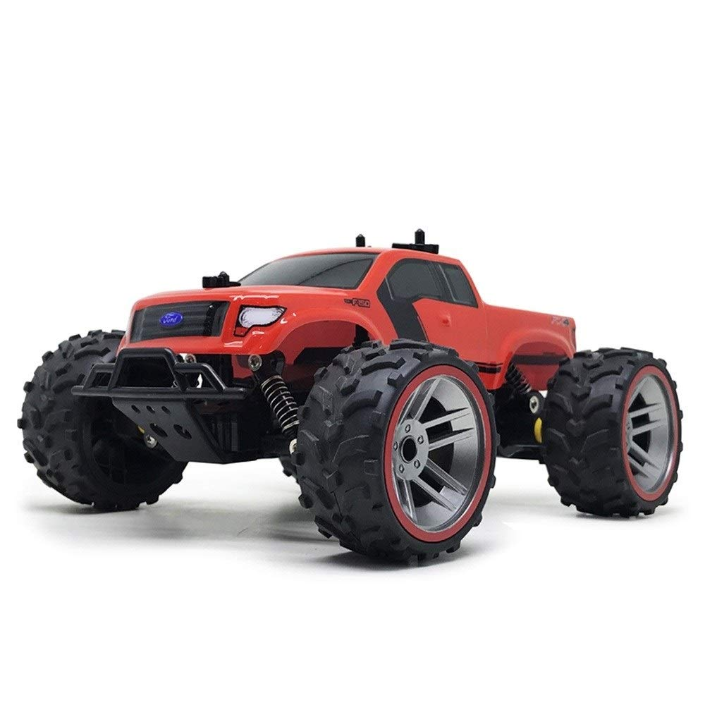 Ycco 1:16 Charging RC Remote Control Truck Off-Road Vehicle 2.4GHz 4WD Powerful Hight Speed Drifting Climbing Cars Radio Electric Rock Crawler Buggy Racing Car Hobby Toy Birthday Present for Kids,Red